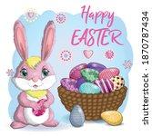 Easter Bunny Rabbit Cartoon...