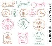 organic cosmetics badges. bio... | Shutterstock .eps vector #1870791184