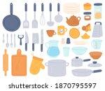 kitchenware and utensils.... | Shutterstock .eps vector #1870795597