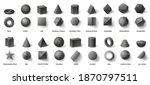 realistic black basic geometric ... | Shutterstock .eps vector #1870797511