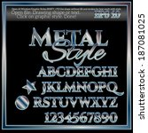 metal graphic styles for design | Shutterstock .eps vector #187081025