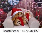 Teddy Bears With Santa Claus...