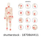 pain in human body. male... | Shutterstock .eps vector #1870864411