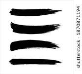 art black ink abstract brush...   Shutterstock .eps vector #1870871194