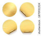 gold glued round stickers with... | Shutterstock .eps vector #1870931524