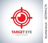 target eye symbol icon. vector... | Shutterstock .eps vector #187094174