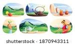 natural tea production flat... | Shutterstock .eps vector #1870943311