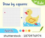 copy the picture  draw squares. ...   Shutterstock .eps vector #1870976974