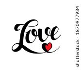 Lettering Word Love Isolated On ...