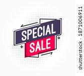 special sale shopping vector... | Shutterstock .eps vector #1871006911