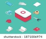 medical equipment  first aid kit | Shutterstock .eps vector #1871006974