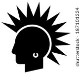 punk vector icon | Shutterstock .eps vector #187101224