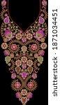 Embroidery Motif Textile Print...