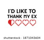 funny valentines day typography ... | Shutterstock . vector #1871043604