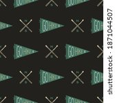 camping seamless pattern with... | Shutterstock . vector #1871044507