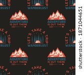 camping seamless pattern with... | Shutterstock . vector #1871044651