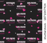 funny valentines day typography ... | Shutterstock . vector #1871047924