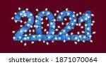 glowing festive garland text... | Shutterstock .eps vector #1871070064