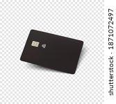 black credit card. blank... | Shutterstock .eps vector #1871072497