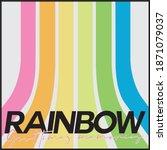70's retro rainbow stripes... | Shutterstock .eps vector #1871079037
