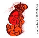 lord ganesha illustration vector | Shutterstock .eps vector #187108049