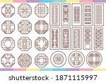 traditional korean window....   Shutterstock .eps vector #1871115997