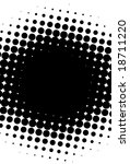 Black And White Halftone Pattern