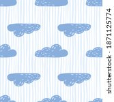 simple blue clouds silhouettes...   Shutterstock .eps vector #1871125774