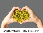 Yellow Heart From Flower On The ...