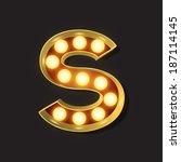 marquee light letter   vector   ... | Shutterstock .eps vector #187114145
