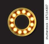 marquee light letter   vector   ... | Shutterstock .eps vector #187114307