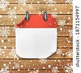 blank calendar icon template on ... | Shutterstock . vector #1871154997