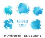 hand drawn watercolor... | Shutterstock . vector #1871168041
