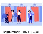 sales assistant helping... | Shutterstock .eps vector #1871172601