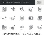 Set Of Vector Line Icons...