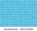 many blue square ceramic tile...   Shutterstock . vector #187122485