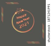 happy new year with abstract...   Shutterstock .eps vector #1871241991