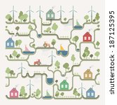 info graphic  eco structure | Shutterstock .eps vector #187125395