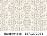 vintage ornament. vector... | Shutterstock .eps vector #1871272081