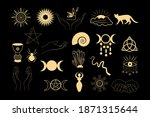 a set of esoteric elements....   Shutterstock .eps vector #1871315644