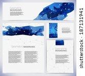 corporate identity kit or... | Shutterstock .eps vector #187131941