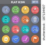 vector application envelope  e... | Shutterstock .eps vector #187134407