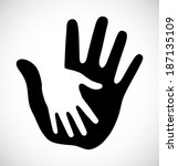 caring thick hand logo  vector... | Shutterstock .eps vector #187135109