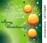 christmas background  vector... | Shutterstock .eps vector #18713689