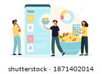 mobile application for calorie... | Shutterstock .eps vector #1871402014