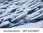 a lot of ice floes. ice drift... | Shutterstock . vector #1871424847