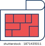 architecture blueprint. vector...   Shutterstock .eps vector #1871435011