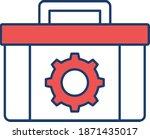 tool kit box vector icon    Shutterstock .eps vector #1871435017
