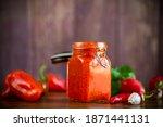 fresh natural homemade sauce... | Shutterstock . vector #1871441131
