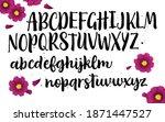vector hand drawn typeface.... | Shutterstock .eps vector #1871447527